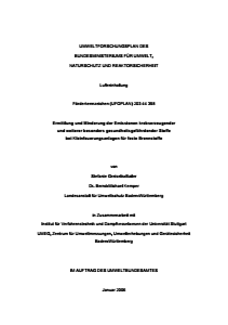 Bild der Titelseite der Publikation: Ermittlung und Minderung der Emissionen krebserzeugender und weiterer besonders gesundheitsgefährdender Stoffe bei Kleinfeuerungsanlagen für feste Brennstoffe