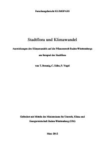 Bild der Titelseite der Publikation: Stadtflora und Klimawandel