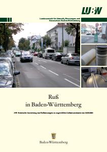 Bild der Titelseite der Publikation: Ruß in Baden-Württemberg