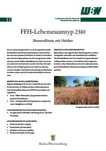 Bild der Titelseite der Publikation: FFH-Lebensraumtyp 2310