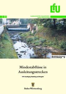 Bild der Titelseite der Publikation: Mindestabflüsse in Ausleitungsstrecken