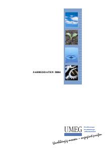 Bild der Titelseite der Publikation: Jahresdaten 2004