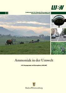 Bild der Titelseite der Publikation: Ammoniak in der Umwelt