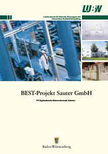 Bild der Titelseite der Publikation: BEST-Projekt Sauter GmbH