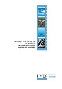 Bild der Titelseite der Publikation: Messungen zum Vollzug der 23. BImSchV in Baden-Württemberg