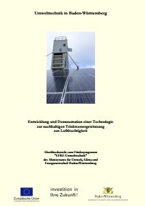 Bild der Titelseite der Publikation: Entwicklung und Demonstration einer Technologie zur nachhaltigen Trinkwassergewinnung aus Luftfeuchtigkeit - WaLu
