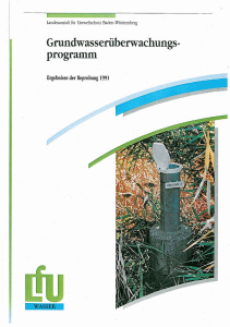Bild der Titelseite der Publikation: Grundwasserüberwachungsprogramm. Ergebnisse der Beprobung 1991