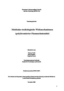 Bild der Titelseite der Publikation: Molekular-toxikologische Untersuchungen (poly)bromierter Flammschutzmittel
