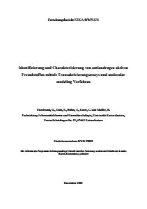 Bild der Titelseite der Publikation: Identifizierung und Charakterisierung von antiandrogen aktiven Fremdstoffen mittels Transaktivierungsassays und molecular modeling Verfahren