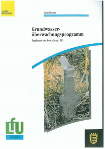 Bild der Titelseite der Publikation: Grundwasserüberwachungsprogramm. Ergebnisse der Beprobung 1995