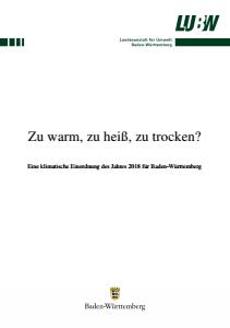 Bild der Titelseite der Publikation: Zu warm, zu heiß, zu trocken?