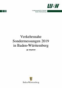 Verkehrsnahe Sondermessungen 2019 in Baden-Württemberg