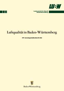 Luftqualität in Baden-Württemberg