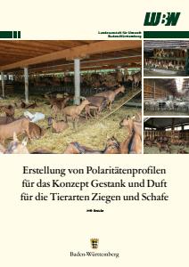 Erstellung von Polaritätenprofilen für das Konzept Gestank und Duft für die Tierarten Ziegen und Schafe