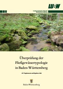 Bild der Titelseite der Publikation: Überprüfung der Fließgewässertypologie in Baden-Württemberg