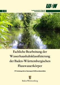 Fachliche Bearbeitung der Wasserhaushaltsklassifizierung der Baden-Württembergischen Flusskörper