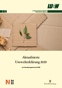 Bild der Titelseite der Publikation: Umwelterklärung 2020 - Aktualisierung