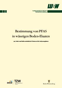 Bestimmung von PFAS in wässrigen Boden-Eluaten