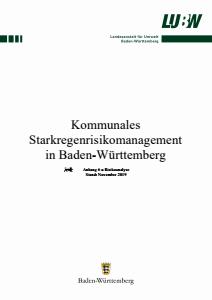 Kommunales Starkregenrisikomanagement in Baden-Württemberg