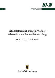 Schadstoffanreicherung in Wanderfalkeneiern aus Baden-Württemberg