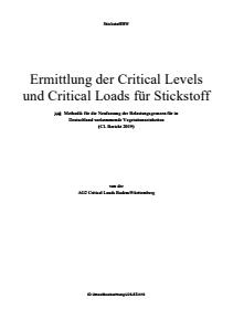 Ermittlung der Critical Levels und Critical Loads für Stickstoff