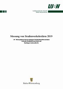 Messung von Straßenverkehrslärm 2019